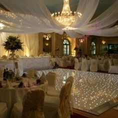 Ceiling Canopy starlight dancefloor. (The Wedding Lounge)