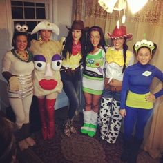 ghouls gone wild 60 creative girlfriend group costumes - Toy Story Alien Halloween Costume