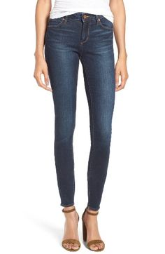 Free shipping and returns on Articles of Society Mya Skinny Jeans (Waverly) at Nordstrom.com. Subtle whiskering and soft, sandblasted fading through the legs lend a casual look to versatile skinny jeans cut from deep-blue stretch denim.