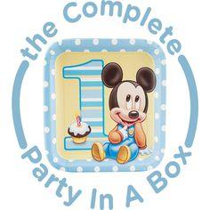 Mickey 1st Birthday Party in a Box from BirthdayExpress.com