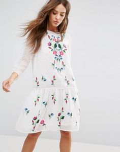 Y.A.S Embroidered Summer Dress