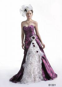 Robe de mariée violette - Robes de mariée et beauté - Touslesmariages.com