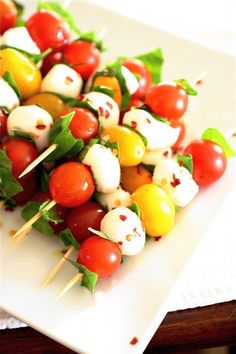 like the different colored tomatoes ideas