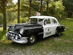 1950 Pontiac cruiser squadcar patrol car police car squad car