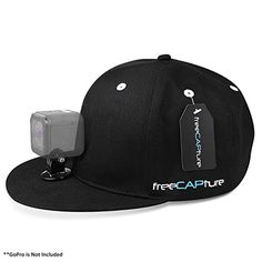 Hat Compatible with Removable GoPro Camera Head Mount - Hero Action Camcorder HD Edition - Go Pro 4 Silver, 3   Black, 2 White, 1- Helmet Accessory Strap Caps Harness Studio Accessories *** You can find out more details at the link of the image.
