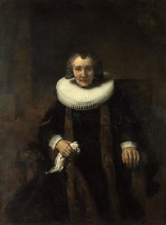 Rembrandt, Portrait of Margaretha de Geer, Wife of Jacob Trip, about Oil on canvas x cm © The National Gallery, London Rembrandt Portrait, Rembrandt Paintings, Portrait Paintings, Leiden, List Of Paintings, Resin Paintings, Art Paintings, Amsterdam, Art Occidental