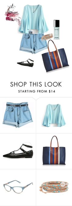 """Untitled #2844"" by ayse-sedetmen ❤ liked on Polyvore featuring Chicnova Fashion, Chicwish, Tory Burch, Kam Dhillon and Chan Luu"