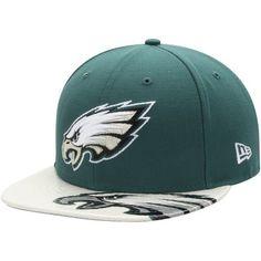 Philadelphia Eagles New Era Dub Logo 9FIFTY Adjustable Hat - Midnight  Green White 776b4ec590dce