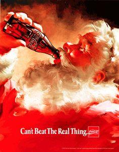 Coca Cola - Can't beat the real thing. Christmas Santa