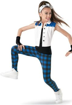 Weissman™ | Vest with Plaid Leggings & Tank Top