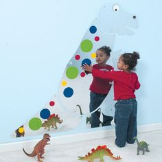 Friendly T-Rex Mirror [EQ1307] - This mirror is a big buddy who will share your every moment. Fascinate all sizes and ages with acrylic reflection of every mood and facial expression. It will spruce up any wall. 4 feet high. Please allow 4 - 5 weeks for delivery.