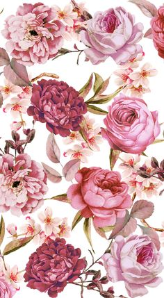 Wallpaper Iphone Floral Flower Ideas For 2019 Floral Wallpaper Iphone, Watercolor Wallpaper, Trendy Wallpaper, Watercolor Rose, Pretty Wallpapers, Flower Wallpaper, Cool Wallpaper, Vintage Floral Wallpapers, Floral Watercolor Background