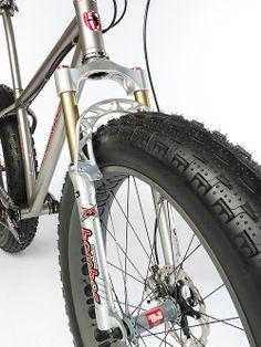 Brad Binghams Snozocchi Fat-bike Suspension Fork   http://FAT-BIKE.COM #fatbike #bicycle #fat-bike