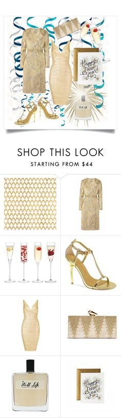 """""""Happy New Year!"""" by fm3happy ❤ liked on Polyvore featuring Barclay Butera, By Malene Birger, LSA International, Chinese Laundry, KOTUR, Olfactive Studio and Rifle Paper Co"""