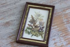 Vintage Framed Pressed Flowers made in Austria by MollyFinds