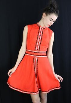 Vintage Red Sixties Dress