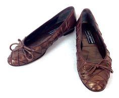 Stuart Weitzman Shoes Leather Brown Ballet Flats Spain Womens Vintage 7 M | eBay