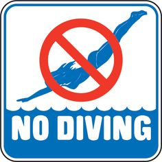 no diving Pool Enclosures, Safety Tips, Diving, Swimming Pools, Letters, Logos, Swiming Pool, Swimming Pool Decks, Pools
