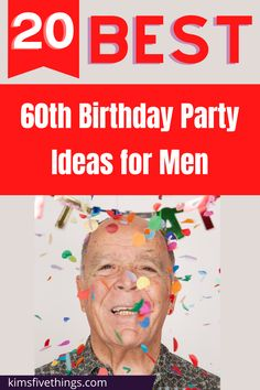 20 60th Birthday party ideas for men in 2020 decorations and supplies. 60th birthday party balloons. 60th birthday party plates. Party ideas for Dads, Grandpas, Brother and Uncles. 60th birthday party backdrop ideas. 60th Birthday Party Decorations, 60th Birthday Gifts, Party Favors, Birthday Parties, Party Plates, Backdrops For Parties, Party Supplies, Balloons, Backdrop Ideas