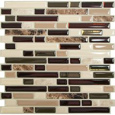 Craft an elegant backsplash in the kitchen or master bath with this self-adhesive mosaic tile, featuring a neutral finish to complement your countertop....