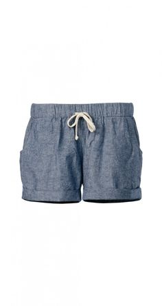 Chambray Drawstring Rosa Shorts - StyleMint - LOOKS SO COMFY!!