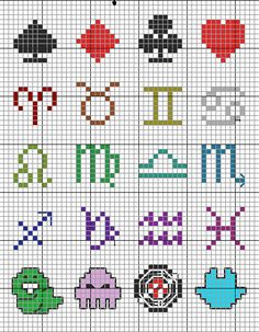 Homestuck cross stitch chart