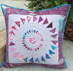 Completed pillow for The Great Pillow Swap