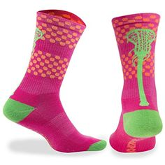 Lacrosse Athletic Half Cushioned Crew Socks | Aloha Hawaii and Tropical Neon Designs ** You can get more details by clicking on the image. (This is an affiliate link) #Socks