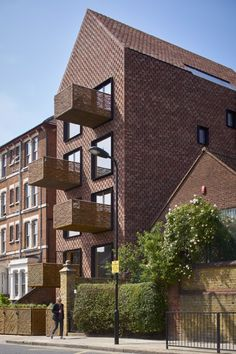 Groupwork designed a brick housing building in Stoke Newington, London, which echoes the slender gables of a nearby school and the standalone presence of the neighbouring 'villa' architype.