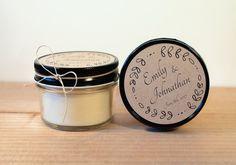 4 oz Wholesale Wedding Candles (Set of 12) || Hand Poured || Organic Soy Candle // 4 oz. Jar