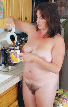 Naked wife chores