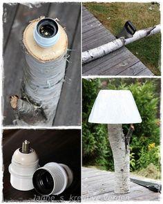 Jannes kreative verden: lamper av bjørketre