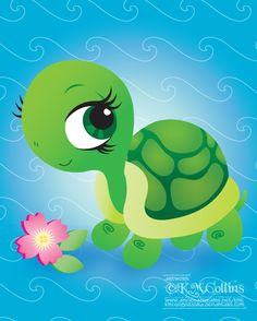 Toshi the Turtle Chibi by KMCgeijyutsuka.deviantart.com on @deviantART