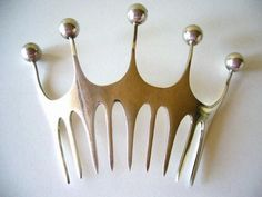 Modernist Hair Comb by Theresia Hvorslev for A. Fausing. Denmark: