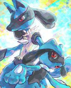 Riolu & Lucario. Don't forget to like this Pokemon Facebook page for more cool Pokemon content: http://www.facebook.com/shinydragonairx