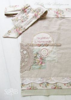 How to make altered vintage aprons | Shabby Art Boutique | Bloglovin'