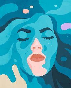[New] The 10 Best Art Today (with Pictures) - آموزش نقاشي سياه قلم و رنگ و روغن ارسال رايگان به سراسر كشور نقاشي Art And Illustration, Portrait Illustration, Graphic Design Illustration, Inspiration Art, Art Inspo, Kunst Inspo, Art Plastique, Art Reference, Vector Art