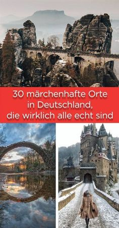 30 fairytale-like places in Germany, all really real .- 30 märchenhafte Orte in Deutschland, die wirklich alle echt sind 30 fairytale places in Germany, which are all really real - Solo Travel, Travel Usa, Trailers Camping, Voyage Europe, Countries To Visit, Destination Voyage, Europe Destinations, Parcs, London Travel