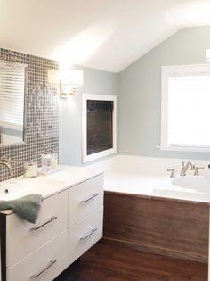 Floating modern bathroom vanity