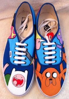 Adventure Time Vans... oh my glob, im gonna die