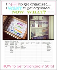 Getting Organized! Tips, Tricks and ideas | simplykierste.com