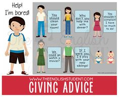 The English Student, www.theenglishstudent.com, English Student, different ways to give advice, giving advice phrase, modal verbs