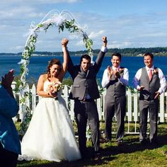 Ben and Jenny, married at Port Gamble, Washington!  Officiant:  Annemarie Juhlian