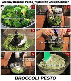 Creamy Broccoli Pesto Pasta with Grilled Chicken | The Biggest Loser