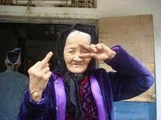 Old Ladies flipping the bird - Imgur