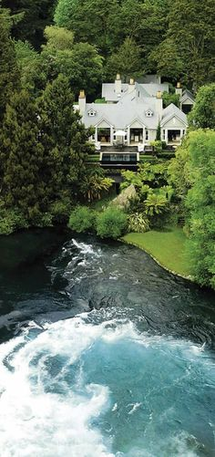 Huka Lodge - New Zealand from helicopter This will do....I suppose.