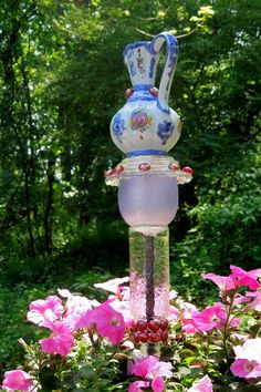 Art sculpture and TOTEM for GARDEN or YARD sold on by GlassBlooms, $22.00
