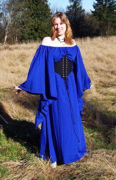 Dagged Dress Ensemble - Fantasy Medieval Dress. $147.00, via Etsy.