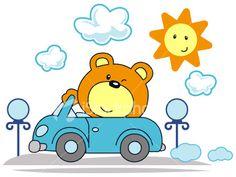 Happy Bear Royalty Free Stock Vector Art Illustration