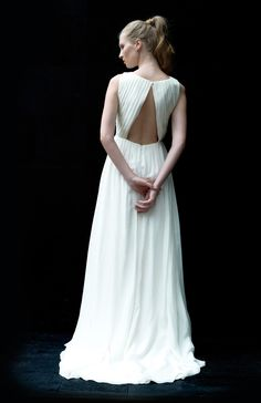 A good example of a backless/cutout/keyhole style, Ocho gown from We Love Yu.